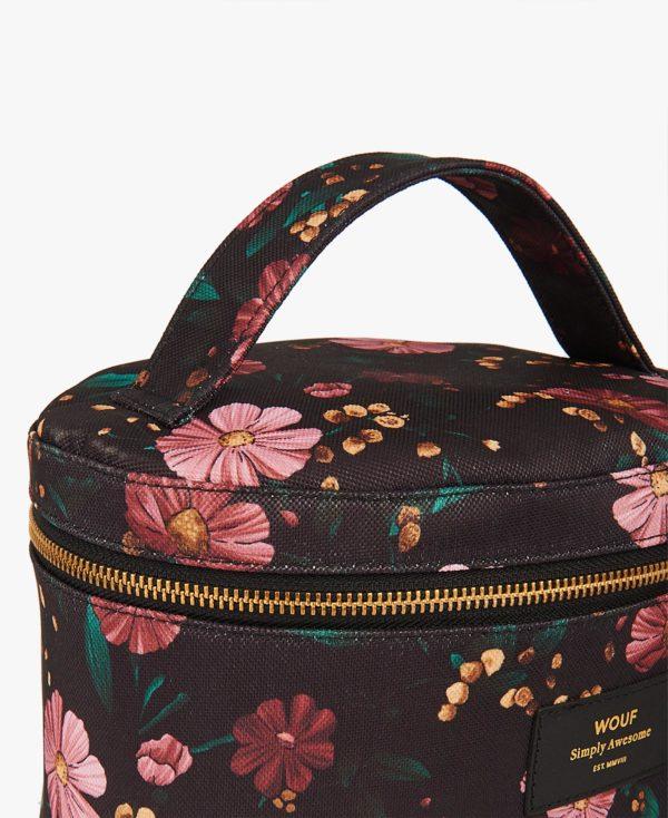 Black Flowers XL Makeup Bag - BeautyBar